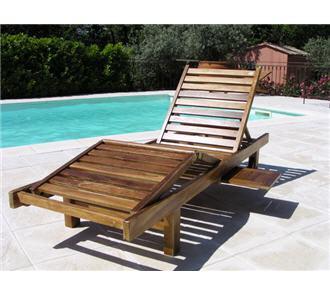 Mobilier d 39 ext rieur en teck bain de soleil tek import for Mobilier exterieur teck
