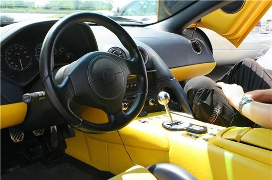 Intérieur sport - Zoom sur la Lamborghini Murcielago sur L ...