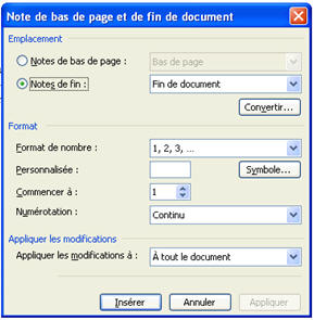 comment arreter numerotation pages word