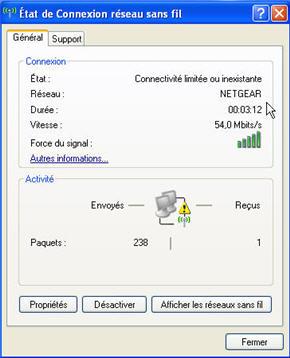 comment reparer la connexion wifi