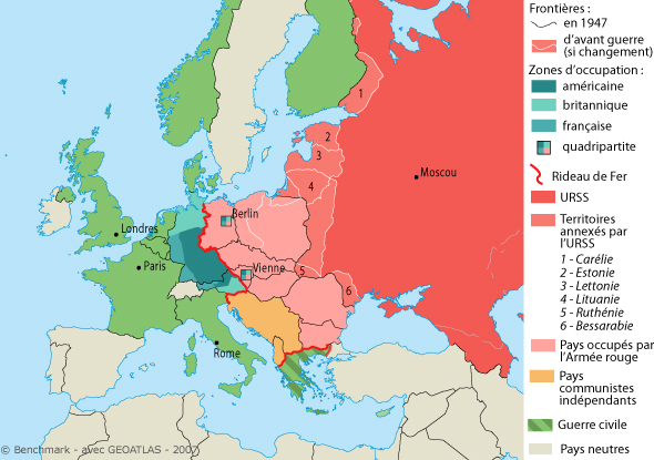 carte europe urss