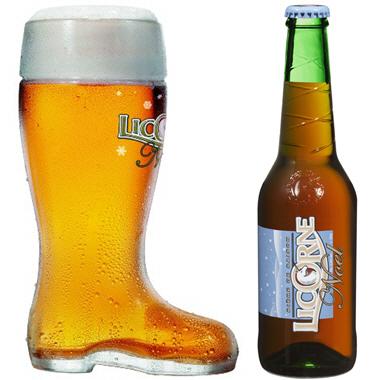 verre a biere licorne de noel