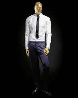 Roberto cavalli pour h m collection homme chemise blanche et cravate en soie - Cravate noire homme ...