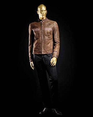 roberto cavalli pour h m collection homme veste en cuir. Black Bedroom Furniture Sets. Home Design Ideas