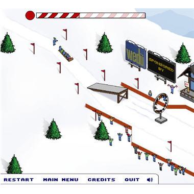 Jeux en ligne pr parez vous pour les jo d 39 hiver - Jeux pere noel luge ...