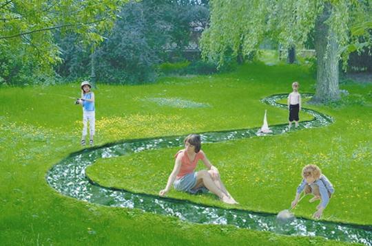 nature   le jardin se jette  u00e0 l u0026 39 eau