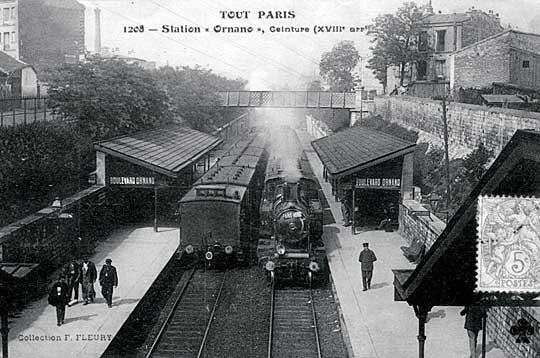 La station du Métropolitain à Ornano