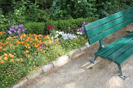 Paris jardin de la fondation napol on xiie petit banc - Petit banc de jardin la rochelle ...