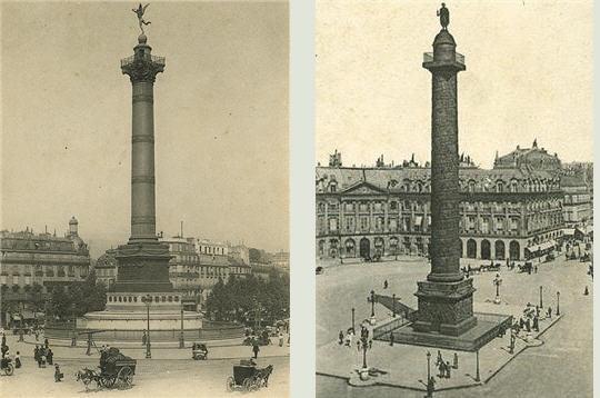 La Place de la Bastille & le Colonne Vendôme