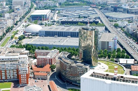 Parc des expositions paris vu du ciel sur l 39 internaute paris - Palais des expositions porte de versailles ...