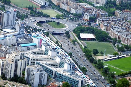 Le p riph rique paris vu du ciel sur l 39 internaute paris - Les portes du peripherique paris ...