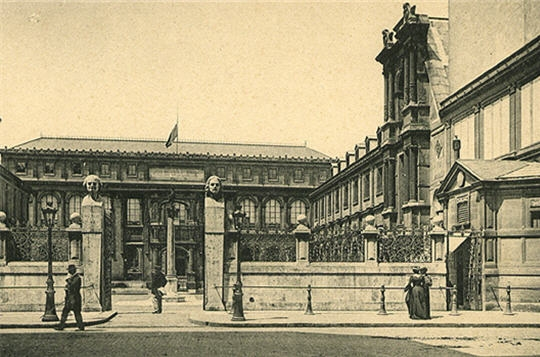 Top Paris : Photos anciennes de Paris - L'Ecole des Beaux-Arts ZR19