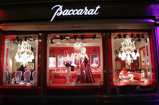 Paris vitrines de no l parisiennes no l royal chez baccarat - Vitrine de noel paris ...