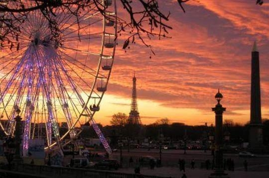 Paris vos plus belles photos de paris coucher de soleil sur la concorde - Coucher de soleil sur paris ...