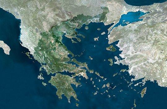 en images   la terre vue par satellite   la gr u00e8ce