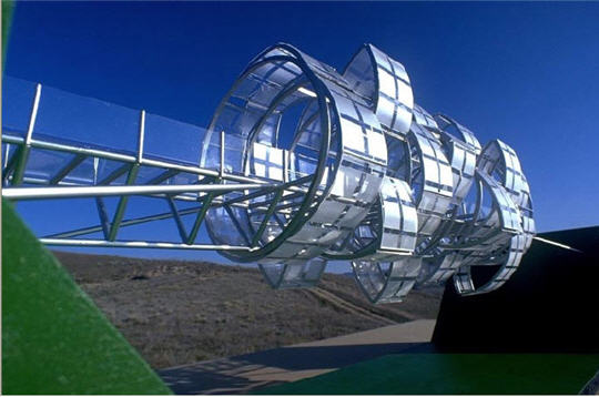 Michael Jantzen - Space Time transformation footbridge