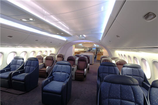 Boeing 787 dreamliner l 39 avion de demain un int rieur for Interieur avion