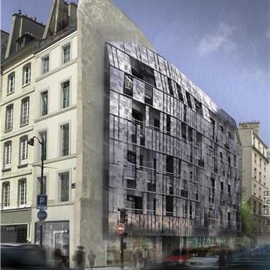 Chantiers parisiens 2006 : Logements sociaux, 74-76 rue Saint ...