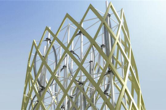Hypergreen la nouvelle tour cologique du futur oliennes - Eolienne de toit ...