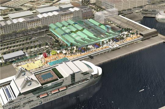 Marseille eurom diterran e en images les terrasses - Les terrasses du port marseille centre commercial ...