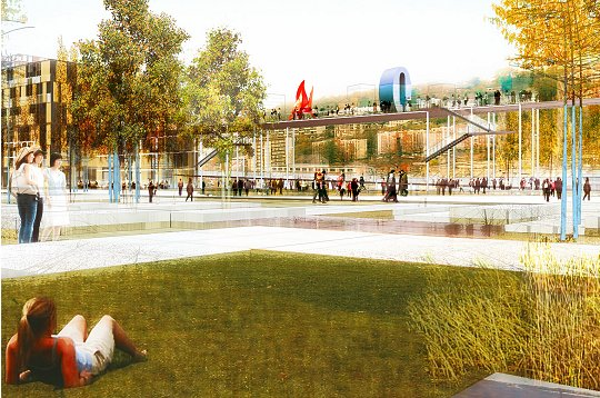 Ile seguin et trap ze les projets des terrains renault terrasse jardin de - Jardin de l ile seguin ...