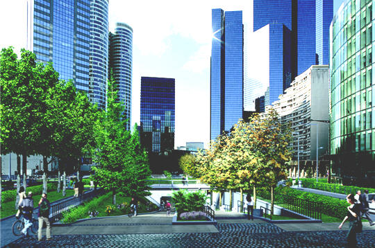 Projet la d fense 2015 espaces publics r am nag s for Espace vert emploi