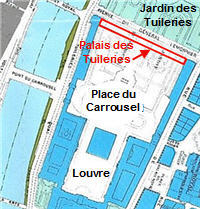 Plan de reconstruction des Tuileries