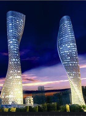 Les tours jumelles de guangzhou en forme de mol cule d 39 adn for Architecture 21eme siecle