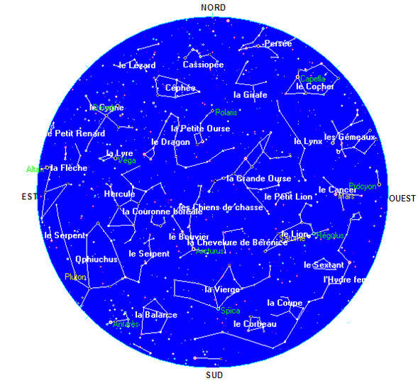 carte du ciel en ligne