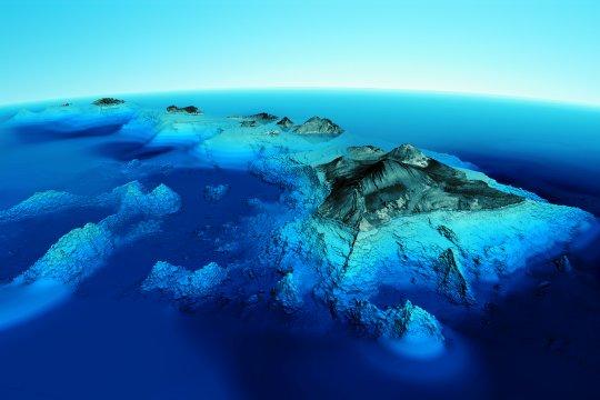 9700 mètres séparent le sommet du mauna kea du fond de la mer. si ce