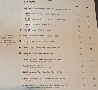 Carte Corse Restaurant.Teste Pour Vous Il Vino A Paris Le Concept Un