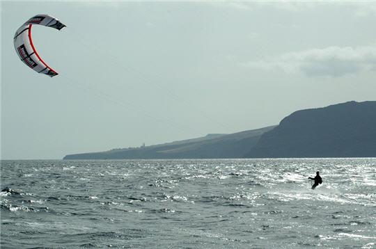 Océan atlantique en kitesurf