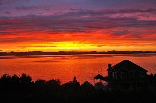 Coucher de soleil d 39 t le canada sur l 39 internaute voyager - Palpitations le soir au coucher ...