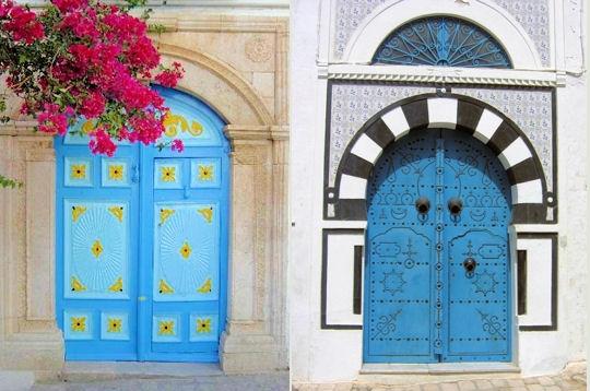 Les portes de sidi bou sa d mille et une merveilles en for Decoration porte sidi bou said