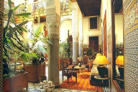 voyager palais m dinas et riads au maroc riad mauresque f s. Black Bedroom Furniture Sets. Home Design Ideas