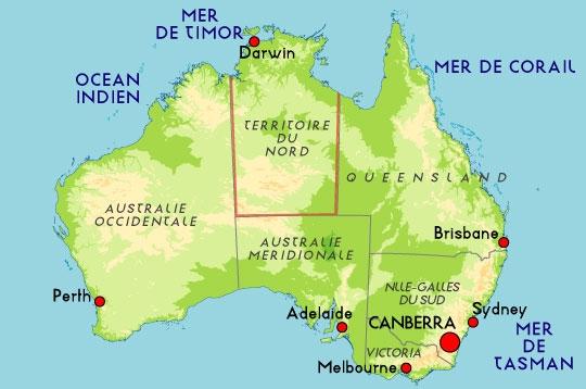CARTES DE L'AUSTRALIE | Online World Map